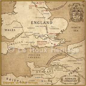 Map Norman Conquest